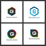 Lettre G Logo Design Set illustration libre de droits