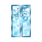 Lettre H d'alphabet de l'hiver Images stock