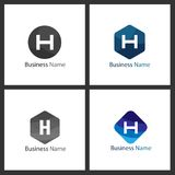 Lettre H Logo Design Set illustration libre de droits