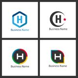 Lettre H Logo Design Set Images libres de droits