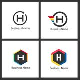 Lettre H Logo Design Set Photo stock