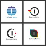 Lettre I Logo Design Set Image libre de droits