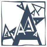 Lettre initiale A Images libres de droits