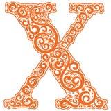 Lettre initiale de vecteur en ornement floral abstrait Illustration de Vecteur