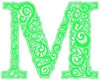Lettre initiale de vecteur en ornement floral abstrait Illustration Libre de Droits