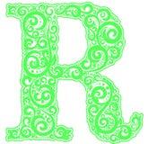 Lettre initiale de vecteur en ornement floral abstrait Illustration Stock