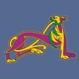 Lettre initiale ornementale A comme lion Image libre de droits