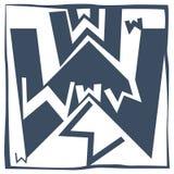 Lettre initiale W Photo libre de droits