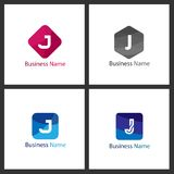Lettre J Logo Design Set Image stock