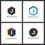 Lettre J Logo Design Set Image libre de droits