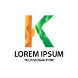 Lettre K avec le style polygonal Images stock