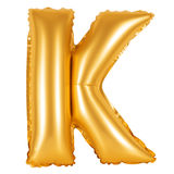Lettre K d'orange d'alphabet anglais Photos stock