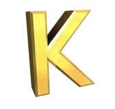 Lettre K de l'or 3d Image libre de droits