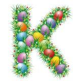 Lettre K de Pâques Image libre de droits