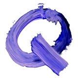 Lettre K dessinée avec les peintures bleues Illustration Stock