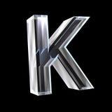 Lettre K en glace 3D Images libres de droits