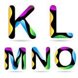 Lettre K L M N O Photo libre de droits