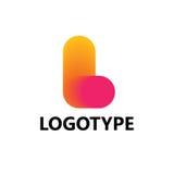Lettre L éléments de calibre de conception d'icône de logo photos stock