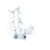 Lettre L d'alphabet de l'eau Photographie stock libre de droits