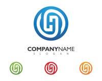Lettre Logo Business de H Photographie stock libre de droits