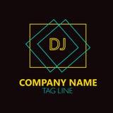 Lettre Logo Design du DJ Photos stock