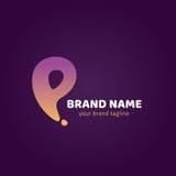 Lettre Logo Design Template de P Image stock