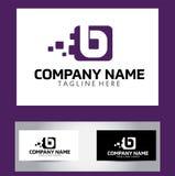 Lettre Logo Design Vector Business Card de B Photos stock