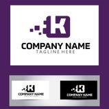 Lettre Logo Design Vector Business Card de K Photos stock