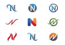 Lettre Logo Template de N Photos stock