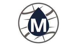 Lettre M du monde d'huile de l'eau Image stock