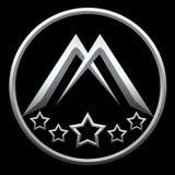 Lettre M pour Logo Company Silver Black Photos libres de droits