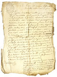 Inscription sur la vieille lettre Photographie stock
