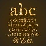 Lettre minuscule d'alphabet de bière, de miel et de caramel illustration libre de droits