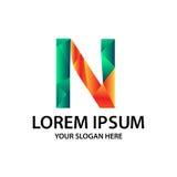 Lettre N avec le style polygonal Images libres de droits