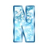 Lettre N d'alphabet de l'hiver Images libres de droits
