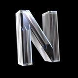 Lettre N en glace 3D Images libres de droits
