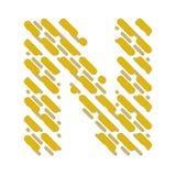 Lettre N rayée d'alphabet latin Hachure de la police illustration de vecteur