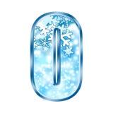 Lettre O d'alphabet de l'hiver Image stock