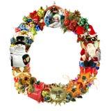 lettre o de décoration de Noël Photographie stock libre de droits