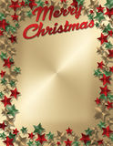 Lettre ou invitation de Noël Photographie stock