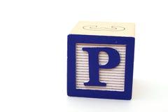 Lettre p Photo libre de droits