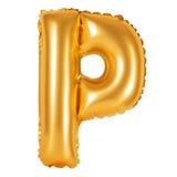 Lettre P d'orange d'alphabet anglais Photos stock