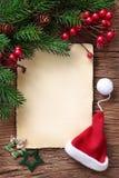 Lettre pour Santa Photo libre de droits
