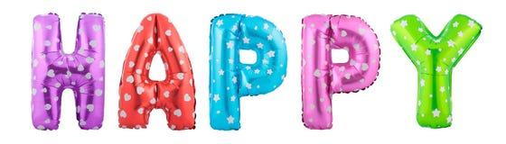 Lettre pourpre H de couleur faite de ballon gonflable Photos libres de droits