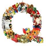 lettre q de décoration de Noël Photographie stock libre de droits