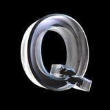 Lettre Q en glace 3D Photographie stock