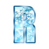 Lettre R d'alphabet de l'hiver Image stock