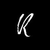 Lettre R Manuscrit par la brosse sèche Images libres de droits