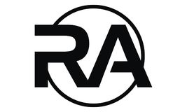 Lettre RA Modern illustration libre de droits