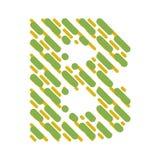 Lettre rayée B d'alphabet latin Hachure de la police illustration de vecteur